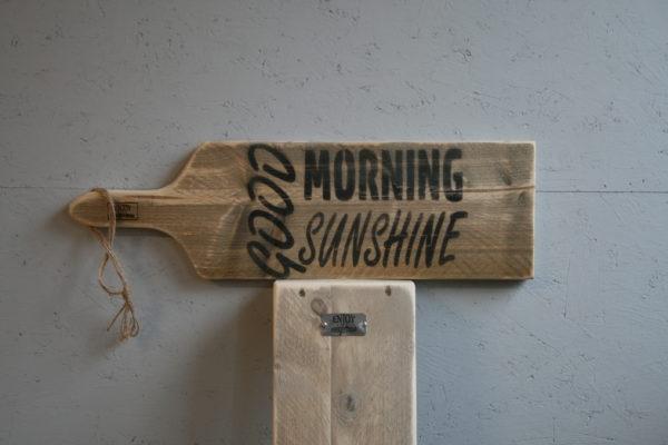 serveerplank 65cm - Good Morning Sunshine - Enjoy Steigerhout