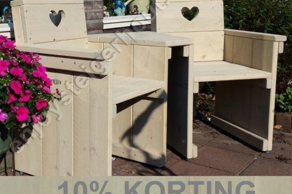Love seat - Enjoy Steigerhout - 1 - actie