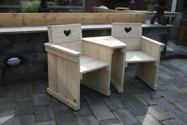 Love seat - Enjoy Steigerhout - 3