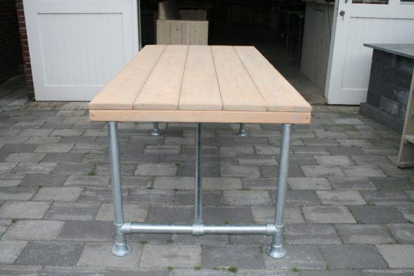 Steigerbuizen tafel basic - Enjoy Steigerhout - 1