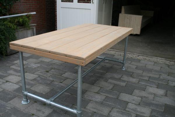 Steigerbuizen tafel basic - Enjoy Steigerhout - 2