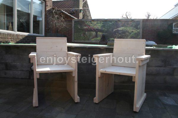 Stoel - Enjoy Steigerhout - 1