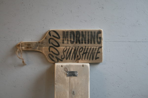 serveerplank 50cm - Good Morning Sunshine - Enjoy Steigerhout