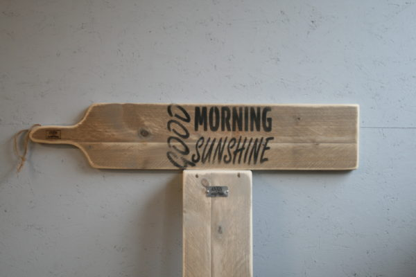 serveerplank 95cm - Good Morning Sunshine - Enjoy Steigerhout