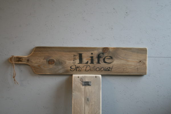seveerplank 95cm - Enjoy Life its Delicious - Enjoy Steigerhout